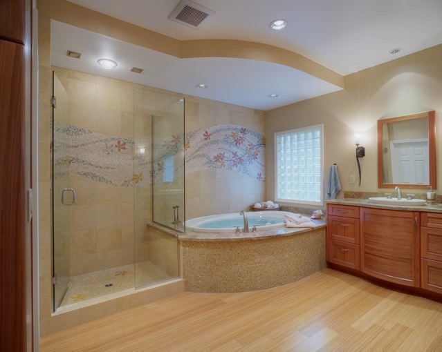 Master bathroom ideas eae builders for Master bedroom bath ideas